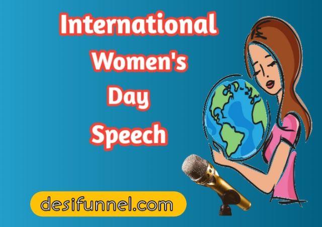 Womens day speech in hindi