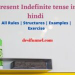 Present Indefinite tense in hindi & english with rules & example