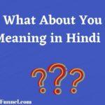 What About You Meaning in Hindi - व्हाट अबाउट यू का हिंदी मीनिंग