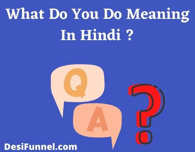 व्हाट डू यू डू का मतलब क्या होता है , What Do You Do Meaning In Hindi ?